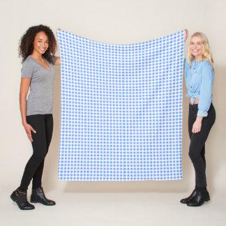 Couverture Checkered bleue et blanche d'ouatine