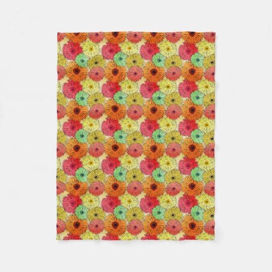 Couverture colorée d'ouatine de fleur (petite)