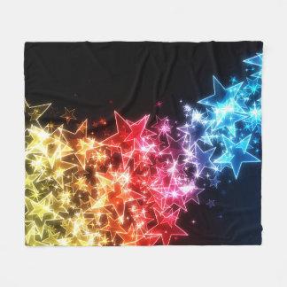 Couverture colorée d'ouatine d'étoiles