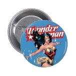 Couverture comique de femme de merveille badge rond 5 cm