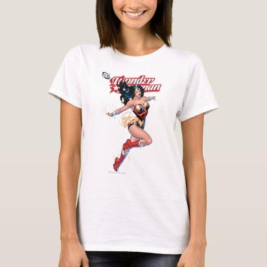 Couverture comique de femme de merveille t-shirt
