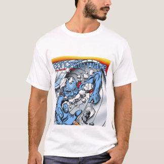 Couverture concrète de vague t-shirt