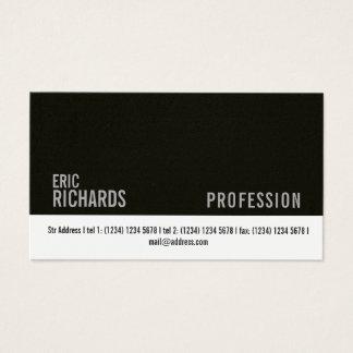 Couverture concrète et blanche de faux foncé de cartes de visite