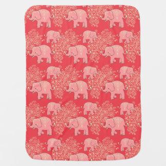 Couverture confortable de bébé d'éléphants doux de couvertures de bébé
