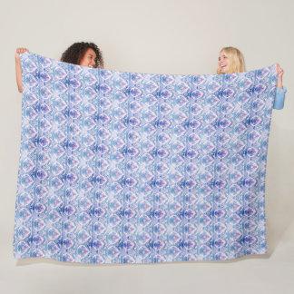 Couverture confortable d'ouatine de motif bleu et