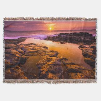 Couverture Coucher du soleil au-dessus des piscines de marée,