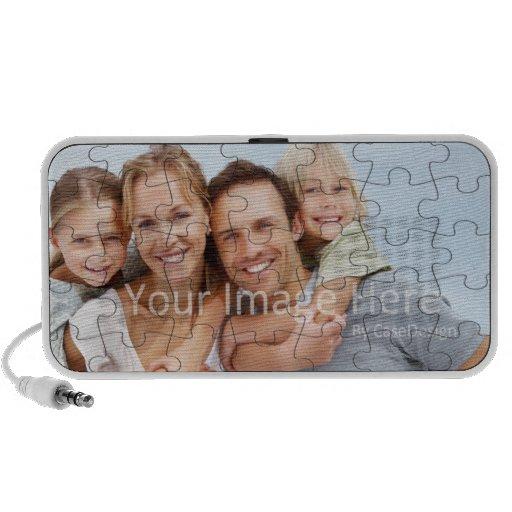 Couverture customisée de cas de puzzle d'image haut-parleurs mp3