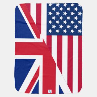 Couverture d'Américain et de bébé de drapeau Couverture De Bébé
