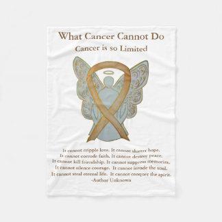Couverture d'ange de ruban de conscience de Cancer