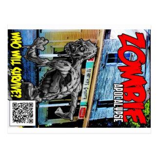 Couverture d'apocalypse de zombi carte postale
