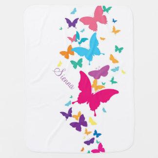 Couverture d'arc-en-ciel de papillon couverture de bébé