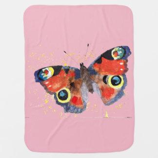 Couverture de bébé avec le papillon handgemaltem