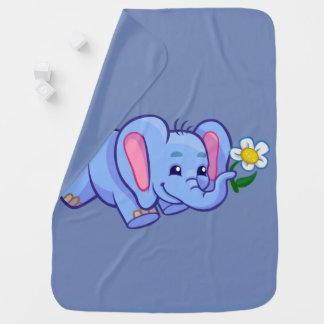 Couverture de bébé avec l'éléphant