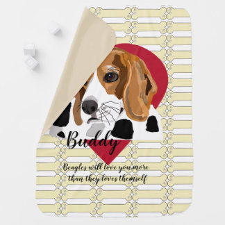 Couverture de bébé de beagle