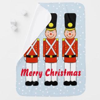 Couverture de bébé de Noël de soldat de Noël