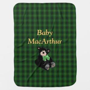 Couverture de bébé de plaid de tartan de MacArth
