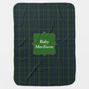 Couverture de bébé de plaid de tartan de MacEwen