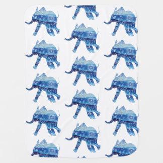 Couverture de bébé d'éléphant de mandala