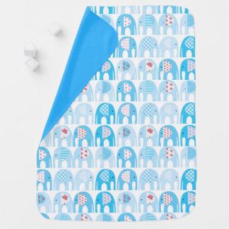 Couverture de bébé - éléphants bleus