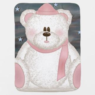 Couverture de bébé ours en peluche