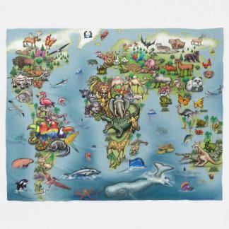Couverture de carte du monde d'animaux grande