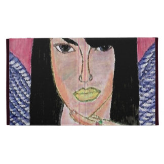 Couverture de cas d'Aaliyah d'ange Coque Folio iPad