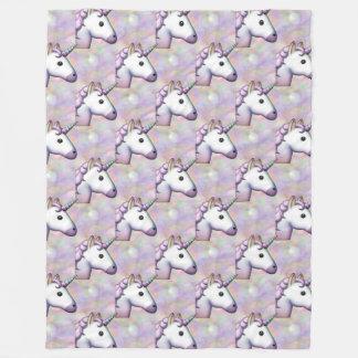 couverture de chambre à coucher d'emoji de licorne