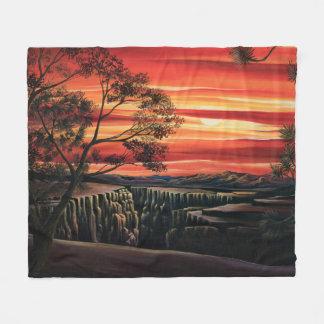 Couverture de coucher du soleil de Canyonlands