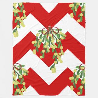 couverture de gui de chevron de Noël