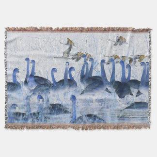 Couverture de jet d'animaux de faune d'oiseaux de