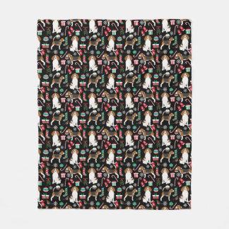 Couverture de jet de beagle de Noël