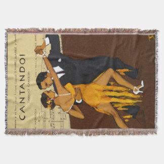 Couverture de jet de danseurs de tango