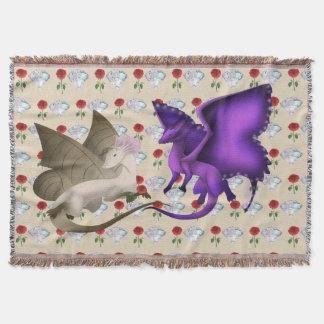 Couverture de jet de dragon de papillon de BFF