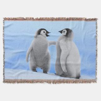 Couverture de jet de pingouins