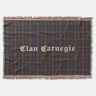 Couverture de jet de tartan de Carnegie de clan