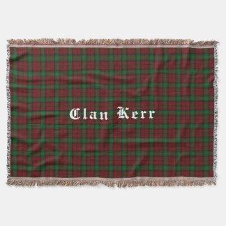 Couverture de jet de tartan de Kerr de clan