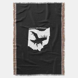 Couverture de jet d'escadron de Raven