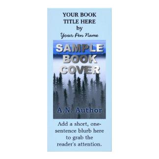 Couverture de livre de vente de promotion d'auteur carte publicitaire