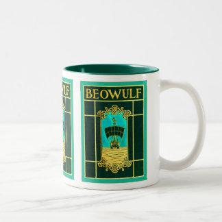 Couverture de livre vintage de ~ de Beowulf Mug Bicolore