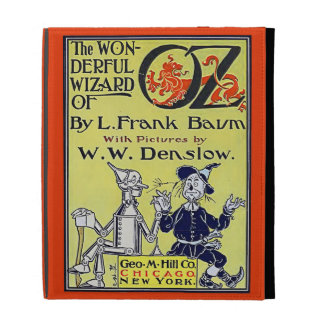 Couverture de livre vintage de magicien d'Oz Étuis iPad Folio