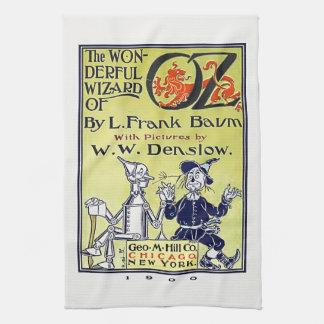 Couverture de livre vintage de magicien d'Oz Linges De Cuisine