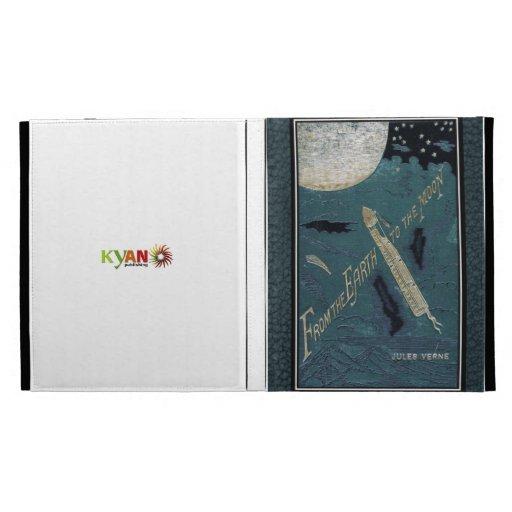 Couverture de livre vintage/Jules Verne Coques iPad Folio