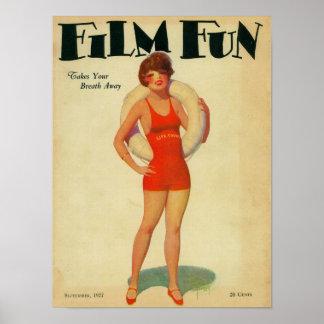 Couverture de magazine d'amusement de film 2 posters