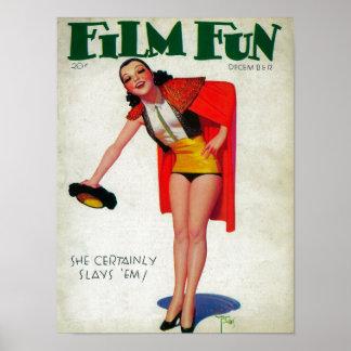 Couverture de magazine d'amusement de film 6 posters