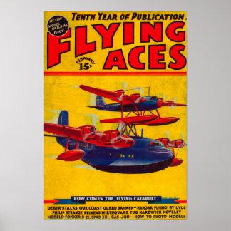 Couverture de magazine d'as de vol 2 posters