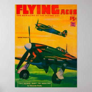 Couverture de magazine d'as de vol 3 posters