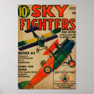 Couverture de magazine de combattants de ciel posters
