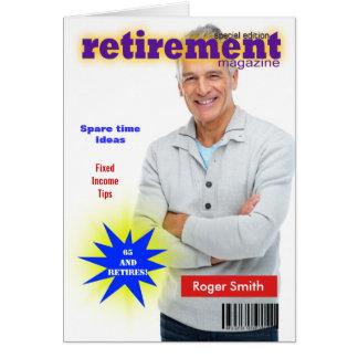 Couverture de magazine de retraite carte de vœux