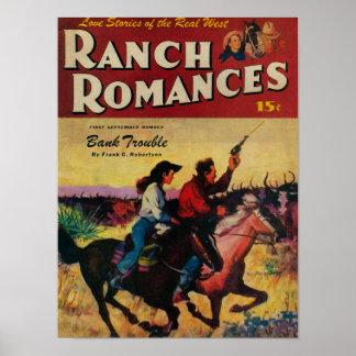 Couverture de magazine de Romances de ranch Posters