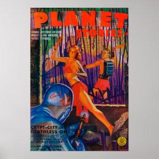Couverture de magazine d'histoires de planète 3 posters